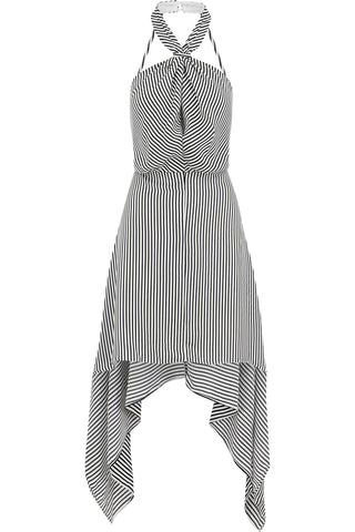Ana Stripe Halter Dress