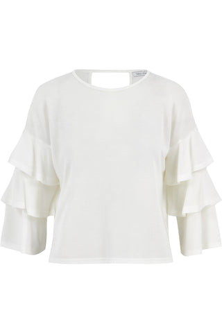Katie Tiered Sleeve Ruffle Top