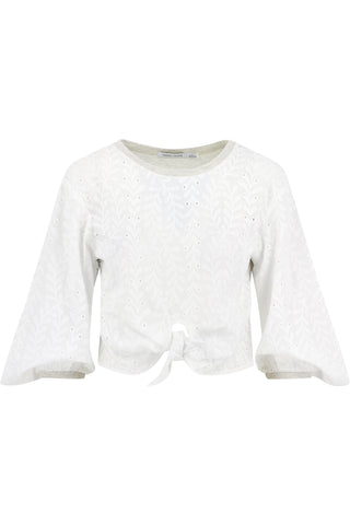 Knit Back Embroidered Top