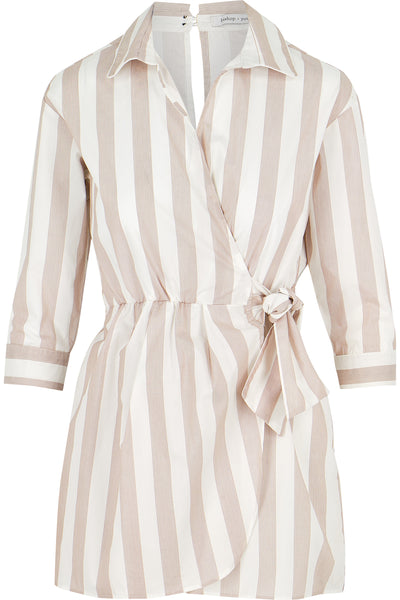 Ava Striped Romper