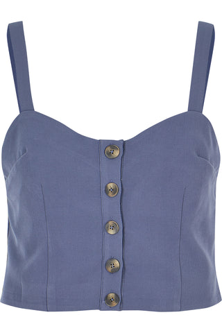 Button Front Crop Top