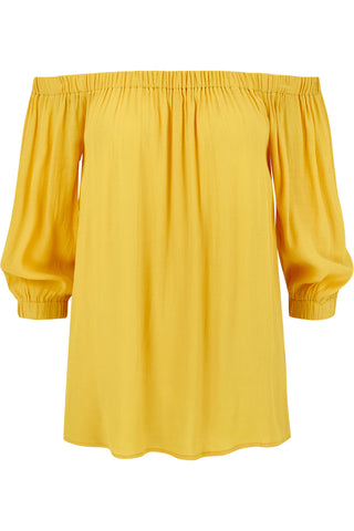 Karlee Off The Shoulder Top- Mustard