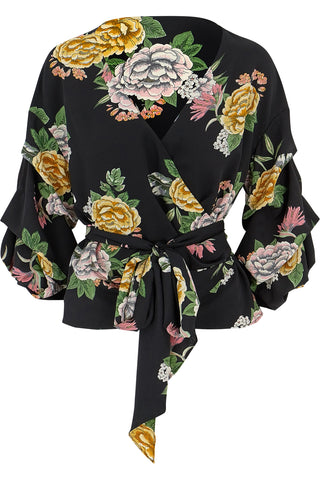 Enchanted Garden Wrap Blouse