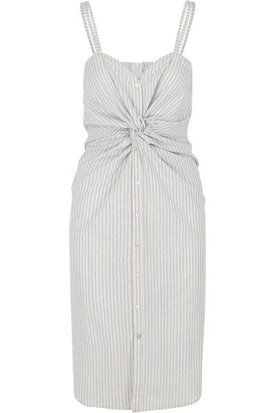 True Blue Stripe Button Front Dress
