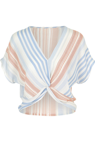 Serenity Stripe Cross Front Top