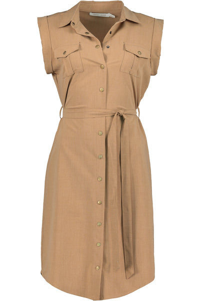 Utility Button Front Dress