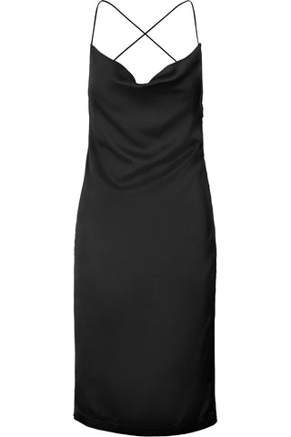 Siren Slip Dress- Black