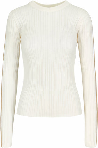 Brie Ribbed Sweater- Ivory
