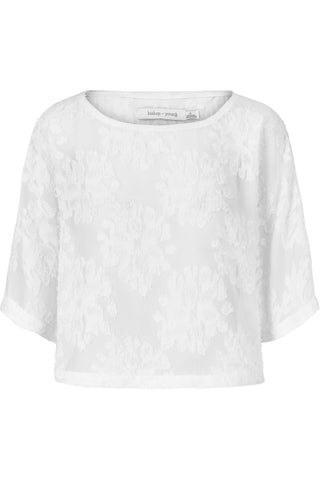 Cleo Crop Top- White