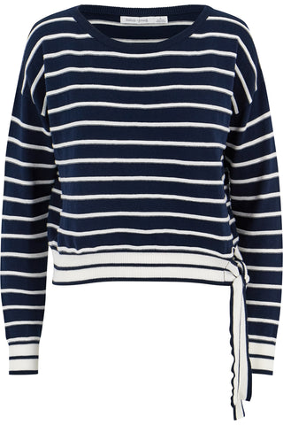 Stripe Side Tie Pullover