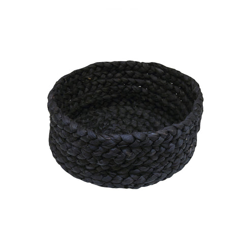 Black Braided Basket Set of 3