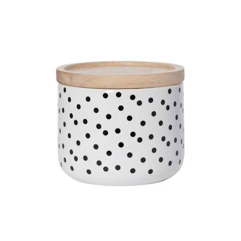Black Polka Dot Canister Small