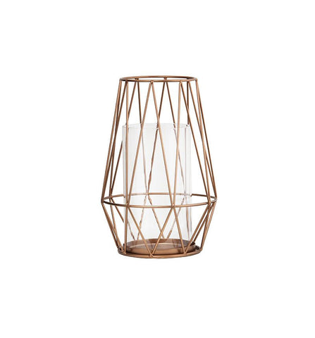 Copper Hurricane Lantern