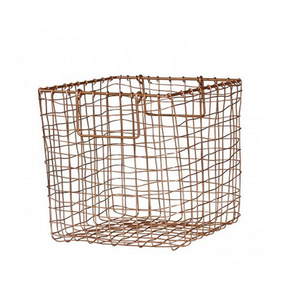 Medium Copper Wireware Basket