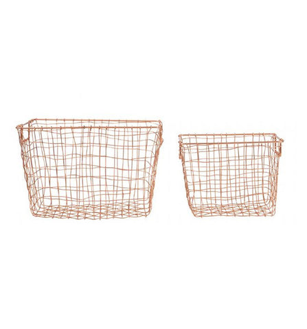 Copper Basket Set