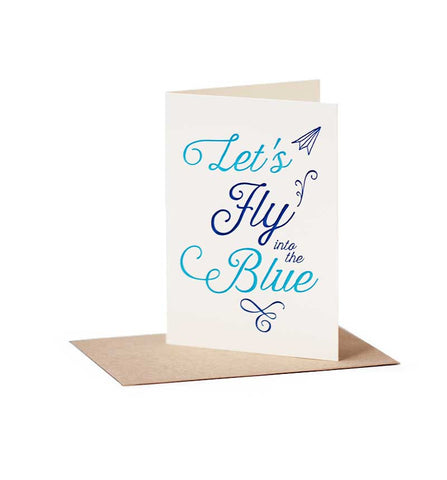 Let's Fly Into The Blue Card