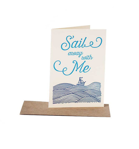 Sail Away With Me Card