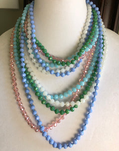 Mix + Match Crystal Necklaces by Lauren Lane