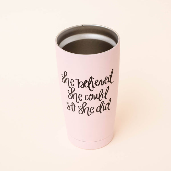 Sweet Water Decor - She Believed She Could So She Did Metal Travel Mug