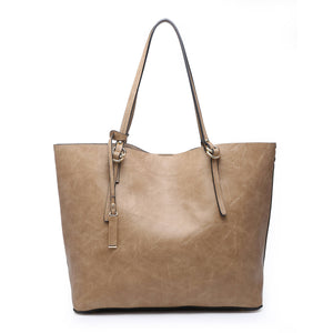 Mandy: Taupe Monogrammable 2 in 1 Tote Bag