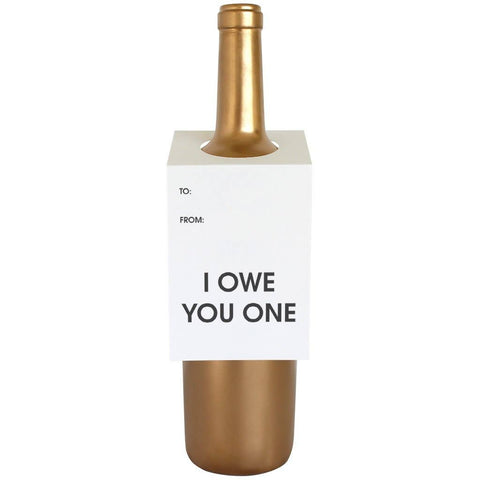 Chez Gagné - I Owe You One Wine & Spirit Tag - Singles