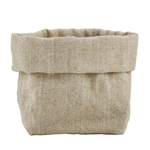 Linen Bread Pouch - Grey