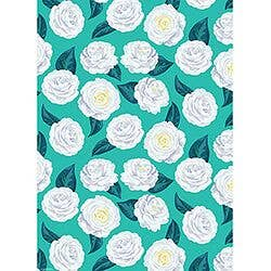 Paper Source - Teal Camellia Wrap