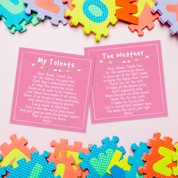 Cleerely Stated - Prayer Time for Little Girls w/ Acrylic Stand (20 Prayers)