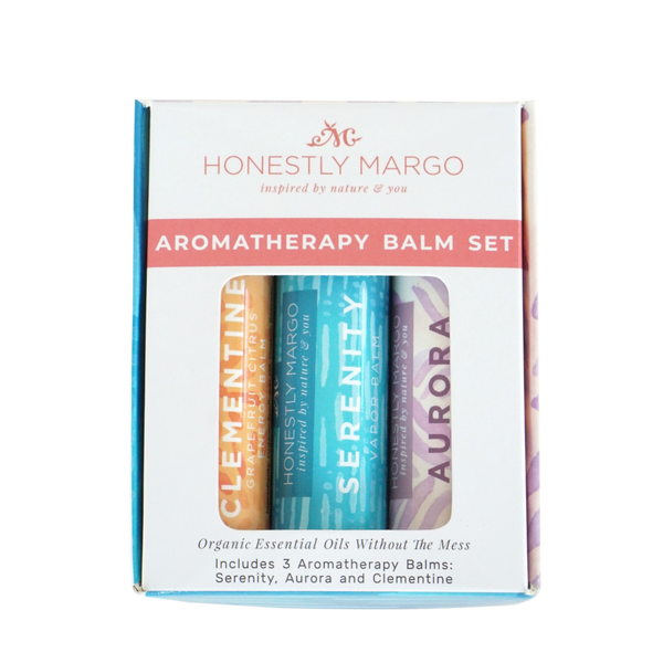 Honestly Margo - Aromatherapy Balm Trio Gift Set