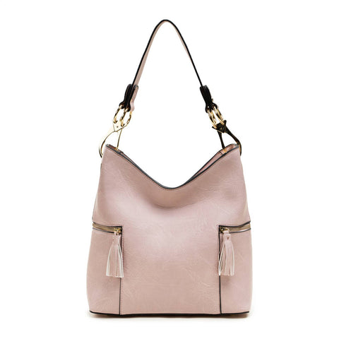 Mika Two Side Zip Pockets Hobo Bag