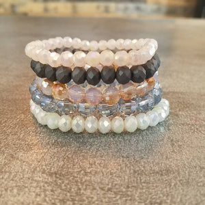 Bracelet Stack in Peachy Keen