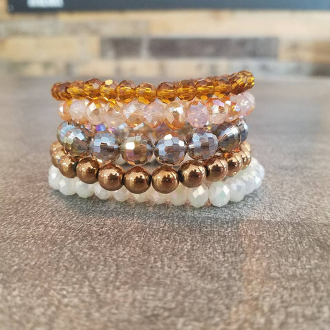 Bracelet Stack in Earthy