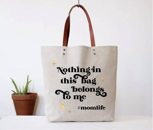 FUN CLUB - Hashtag Mom Life Tote Bag