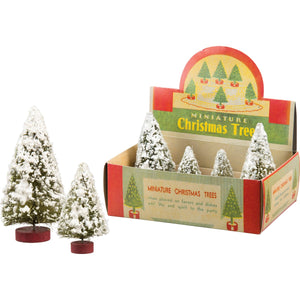 Mini Flocked Tree Set