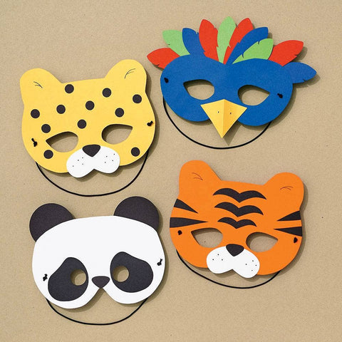 Paper Source Wholesale - Jungle Animal Mask DIY Craft Kit