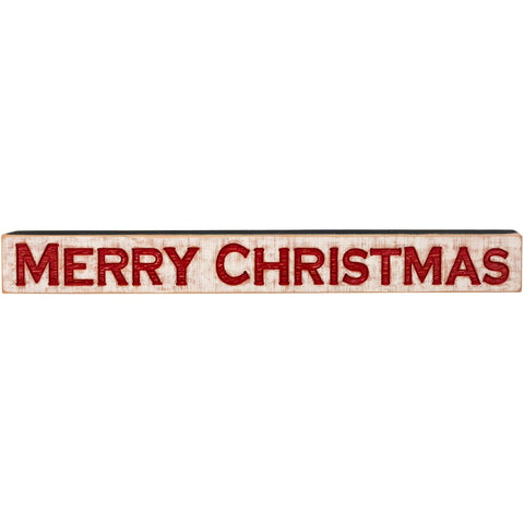 Merry Christmas Carved Wood Sign