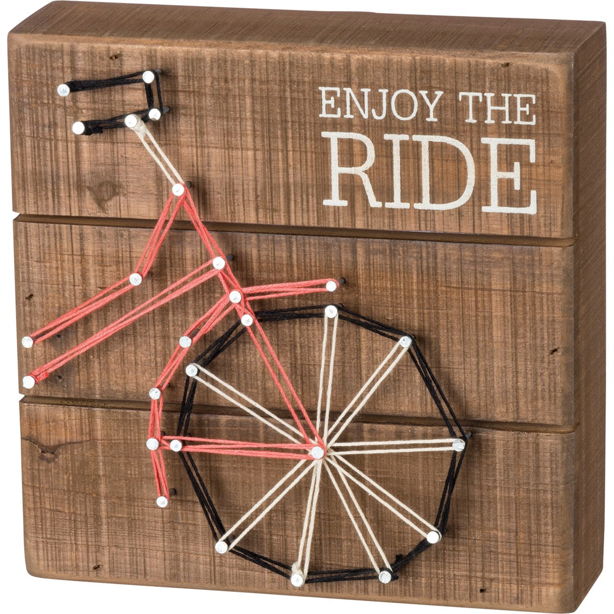 Enjoy The Ride String Art Box Sign