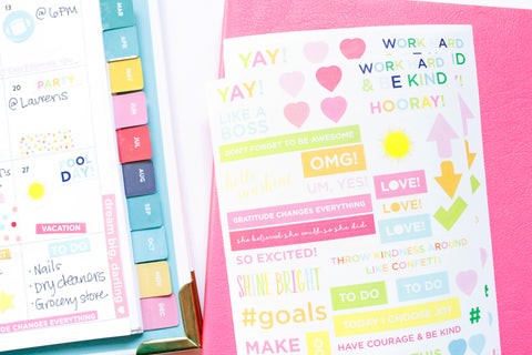 Taylor Elliott Designs - Motivational Planner Stickers