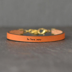 Laurel Denise - Be Here Now - Leather Bracelet Jewelry - Addt Colors