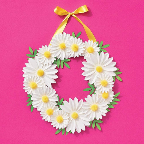 Paper Source Wholesale - Daisy Pom Wreath DIY Craft Kit
