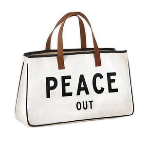 Peace Out Canvas Tote