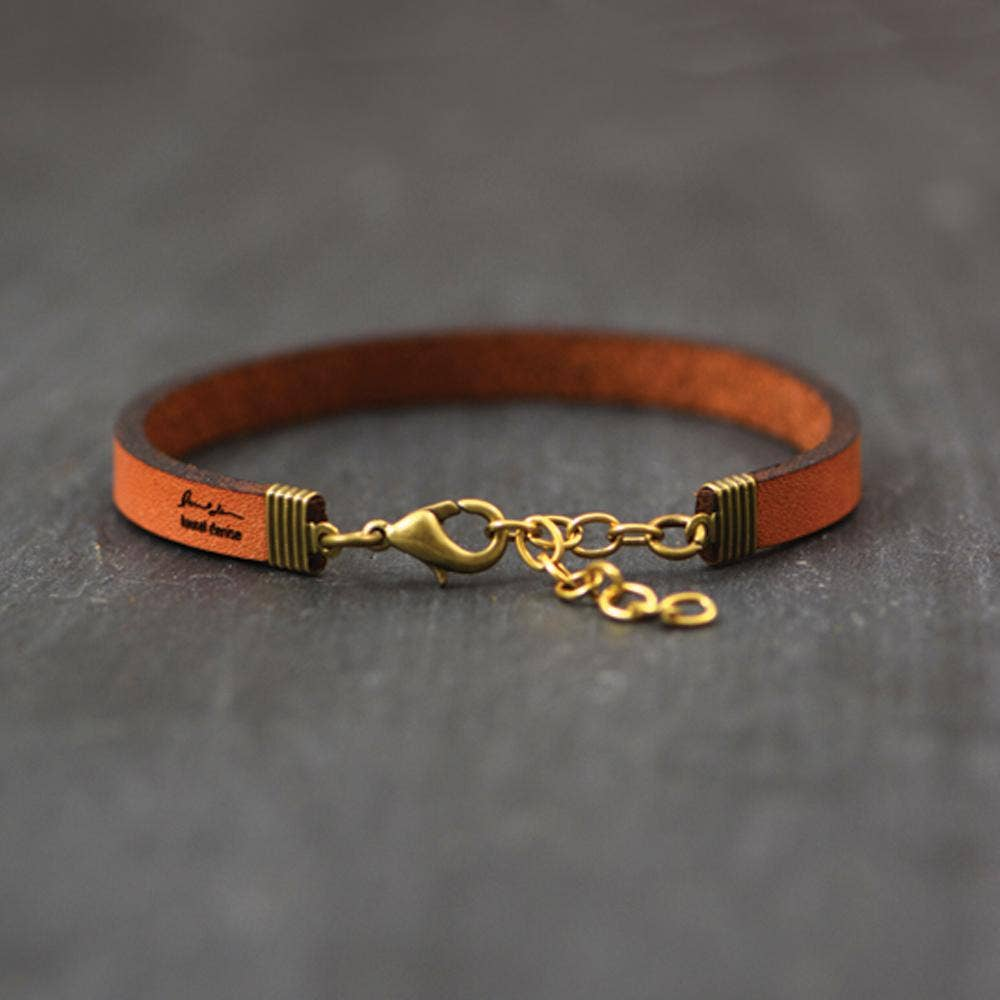 Laurel Denise - Don't Give Up- Leather Bracelet Jewelry - Addt Colors