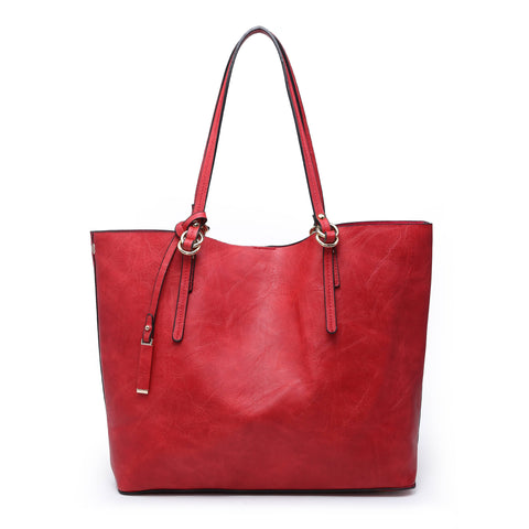 Mandy: Red Monogrammable 2 in 1 Tote Bag