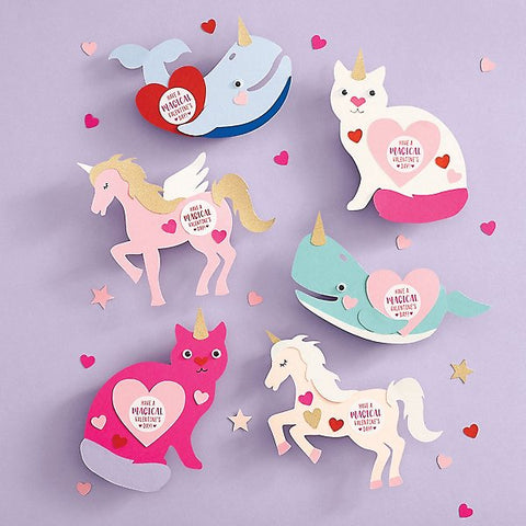 Magical Creatures DIY Valentine's Craft Kit