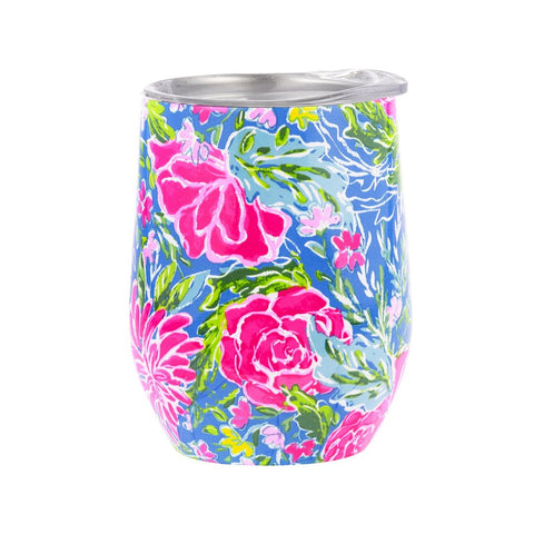 Lilly Pulitzer Stemless Stainless Steel Wine Tumbler in Bunny Business