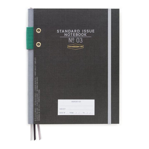 Standard Issue Notebook in Black Fabric