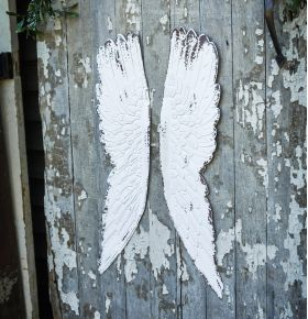 White Angel Wing Hanging Decor