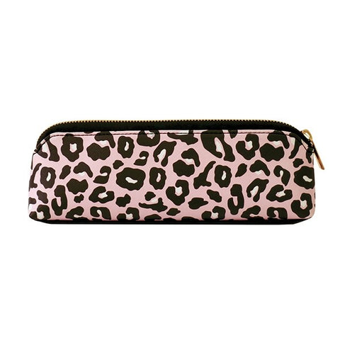 Pink Leopard Pencil Case