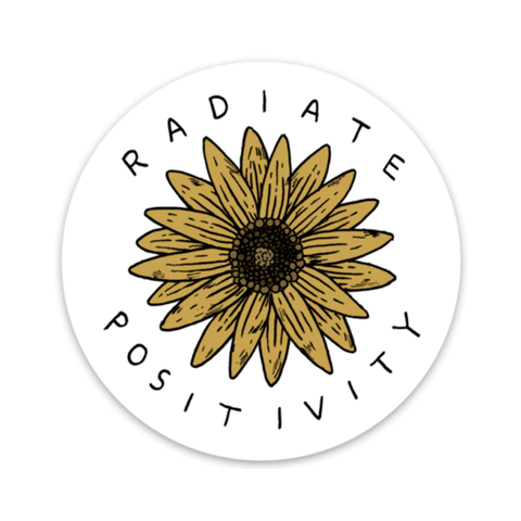 Big Moods - Radiate Positivity Sunflower Sticker