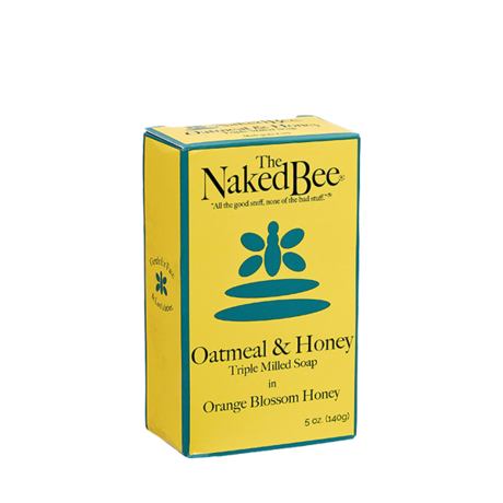 The Naked Bee - Oatmeal & Honey Triple Milled Soap in Orange Blossom Honey
